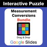 Measurement Conversions Puzzles with GOOGLE Slides Bundle