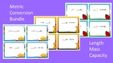 Measurement Conversions Scoot Activities/Task Card Bundle (Metric System)