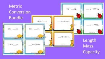 Measurement Conversions Scoot Activities/Task Card Bundle (Metric System)