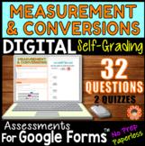 Measurement & Conversions ~ Self-Grading Quiz Assessments for Google Forms