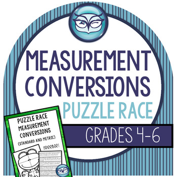 Measurement Conversions Standard and Metric - Math Puzzles Freebie