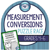 Measurement Conversions Game (Standard and Metric): Puzzle Races