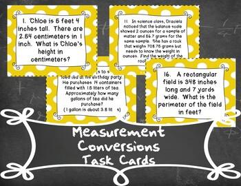 Measurement Conversions Task Cards