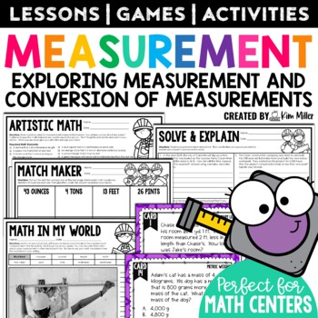 Measurement Task Cards: Customary & Metric Conversions - Math Center, Game