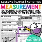 Measurement: Customary & Metric Conversions Math Test Prep Task Cards