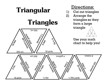 Measurement Conversions Triangles