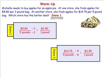 Measurement Conversions Using Rates; SMART Board Lesson