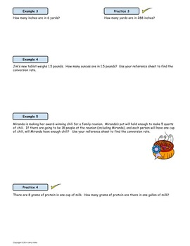 Measurement Conversions Using Rates; SMART Board Lesson and Worksheet Bundle