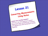 Measurement Conversions Using Rates; SMART Board Lesson an