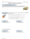 Measurement Conversions Using Rates; Worksheet and Homework