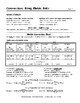 Measurement Conversions Using U.S. Standard (Customary) and Metric Units