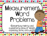 Measurement Word Problem Task Cards:  4.MD.1, 4.MD.2