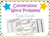 Measurement Conversions Word Problems Task Cards ~4.MD.2 and 5.MD.1