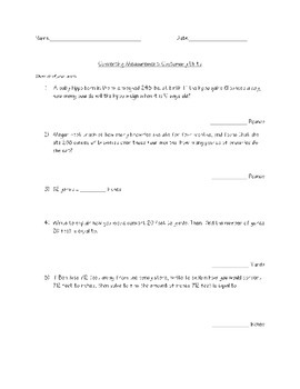 Measurement Converstion Word Problems