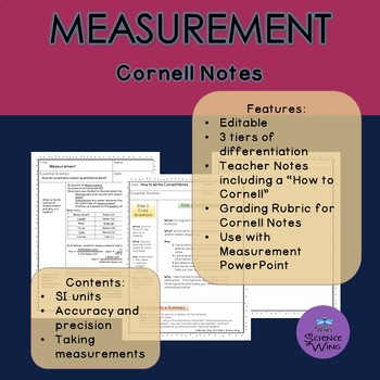 Measurement Cornell Notes- Differentiated