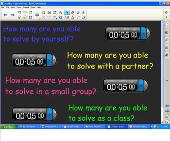 Ditloid Teamwork Activity:  Measurement/Creative Thinking/Mental Flexibility
