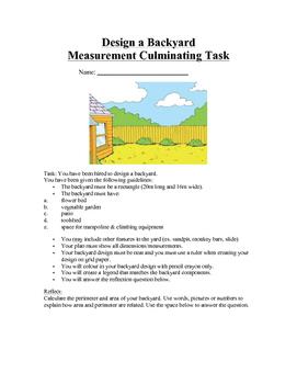 Measurement Culminating Task