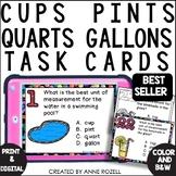 Measurement - Cups, Pints, Quarts, Gallons (24 Task cards)