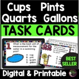 Cups  Pints Quarts Gallons Task Cards | Digital and Printable
