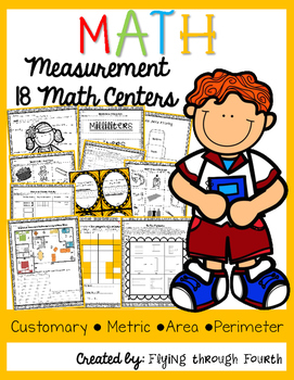 Measurement Math Centers/Games {Metric, Customary, Area & Perimeter}