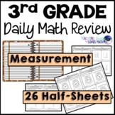 Measurement Customary Metric Daily Math Review 3rd Grade Bell Ringers Warm Ups