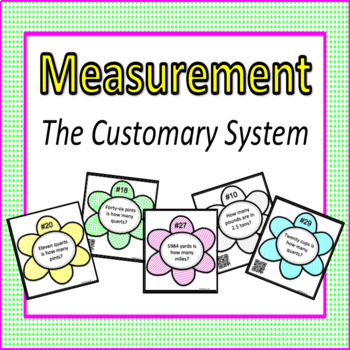 Measurement Customary System Task Cards