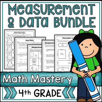 Measurement & Data Bundle - Fourth Grade Common Core Math - 11 Packets!