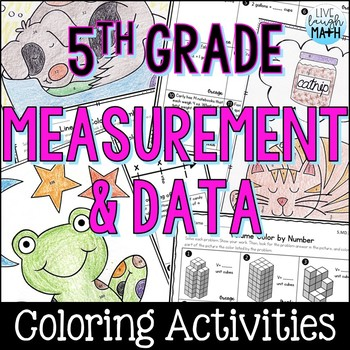 Measurement & Data Coloring Activities- Fifth Grade