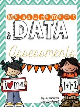 Measurement & Data First Grade Common Core Math Assessments