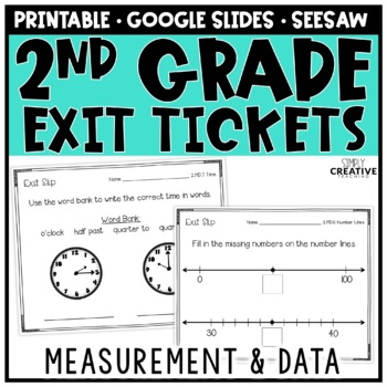Measurement & Data Exit Slips for 2nd Grade
