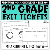 Measurement & Data Exit Slips for 2nd Grade