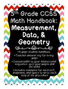 Measurement, Data, & Geometry Handbook Grade 5 CCSS