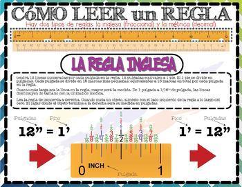 Measurement & Data: How To: Read a Ruler (English & Español)