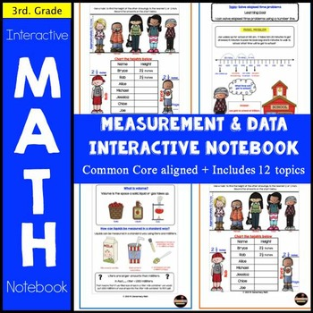Measurement & Data Interactive Notebook - 3rd Grade