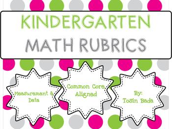 Measurement & Data Kindergarten Rubrics