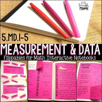 Measurement & Data Math Interactive Notebook: Conversions, Line Plots, & Volume