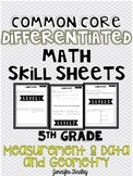 Measurement & Data and Geometry 5th Grade CCSS Math Differ