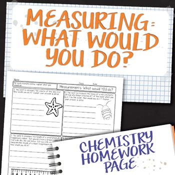 Measurement Deeper Thinking Questions Chemistry Homework Worksheet