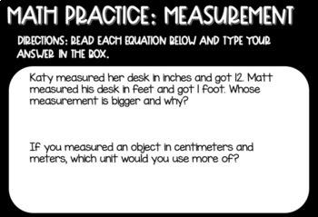 Measurement Digital Math Practice for 2nd Grade