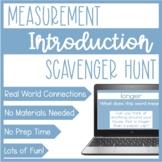 Measurement Virtual Lesson   No Prep Zoom Scavenger Hunt