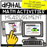 Measurement Distance Learning Digital Math for Google Clas