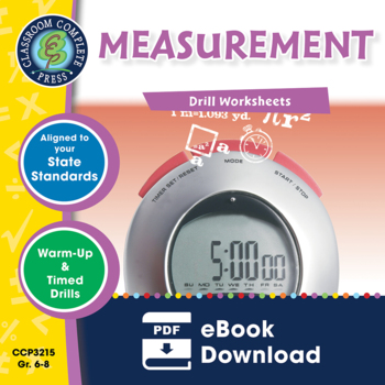 Measurement - Drill Sheets Gr. 6-8