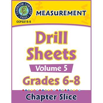 Measurement - Drill Sheets Vol. 5 Gr. 6-8