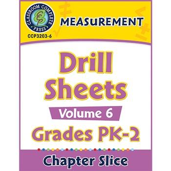 Measurement - Drill Sheets Vol. 6 Gr. PK-2