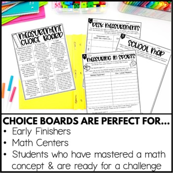 Measurement Enrichment Activities - Math Menu, Choice Board