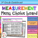 3rd Grade Measurement Project Choice Board – Enrichment Math Menu
