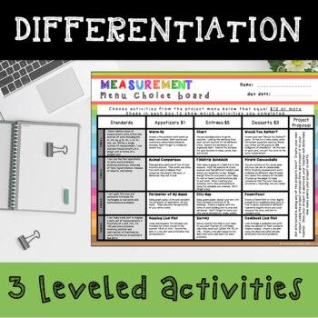 Measurement Enrichment Choice Board – 4th Grade