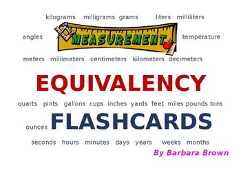 Measurement Equivalency Flashcards