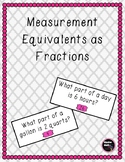 Measurement Equivalents as Fractions