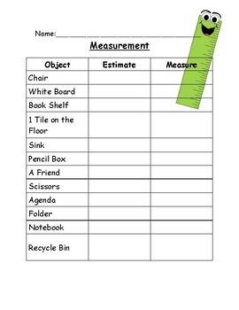Measurement; Estimate